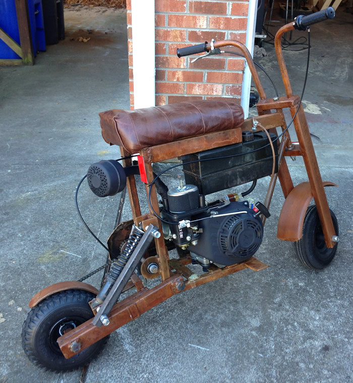 Minibike made of steel