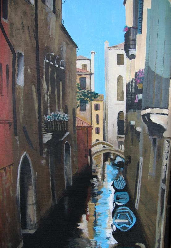 painting of venice in oils